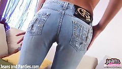 Watch me take off my tight blue jeans