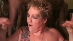 Black cum in mouth compilation