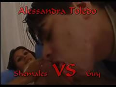 Shemale VS Guy ( Alessandra Toledo )