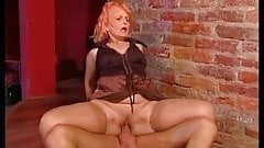 GILF having both holes stuffed and gets a facial in the end
