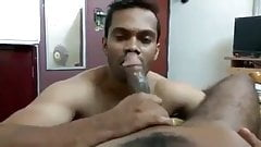 Wild bottom giving blowjob without leaving a drop of cum