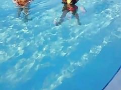 Sexy latina teen in pool booty Thumbnail