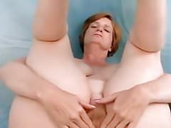 Hairy Milf Wearing Lingerie Toying