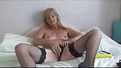 New Stocking Milf Jill With Dildo Fucking