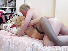 Blonde MILF Whore gets Pussy Eaten