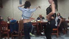Sexy Girls Belly Dancing in Class