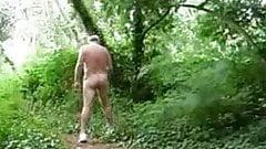 Mature masturbate in woods