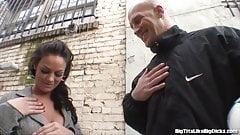Brunette With Huge Tits Bangs A Stranger