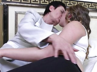 Name for lesbian lover - Granny having fun with her young lesbian lover