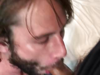 Choking on a nice latin cock ends with thick load