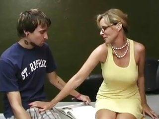 Penis excersice - Mature woman milks his penis wf