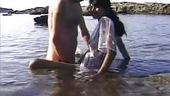 Indian Babe Jerking Big White Cock At Beach In Goa