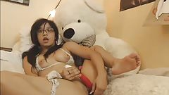 Hot Asian Enjoying Toys at her Holes