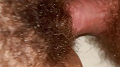 Fuck wet hairy pussy close up