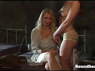 Lesbian slave owner brands and trains her slave well