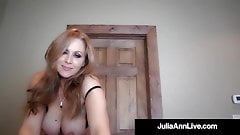 Cock Hungry Milf Julia Ann Sucks Your Hard Cock POV!