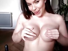 French webcam cam model - tits & pussy rubbed