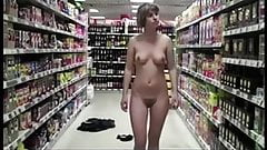 Almost caught stripping at the liquere store