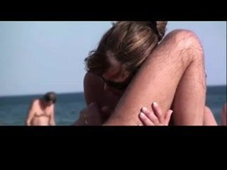 Beauty Milf Sucking on French Beach by TROC