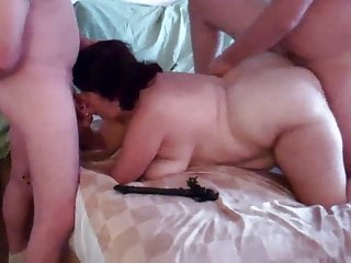 BBW DW takes on first 2 at GangBang
