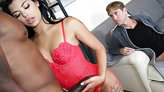 Gina Valentina Handles Big Black Cock - Cuckold Sessions