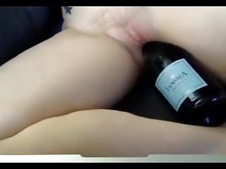shaved pussy bottle fucking (2)