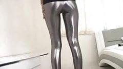 silver leggings