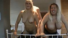 Young Husband Fucks His BBW Wife and Their Mature Neighbor