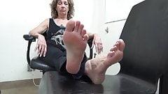 Beautiful Granny Feet Soles