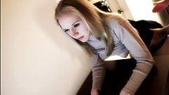 nice blonde teen spanking