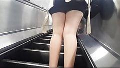 Tan Pantyhose Girls in Metro Compilation
