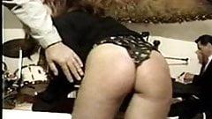 British Lady Spanked onstage at a Nightclub in VIntage Video