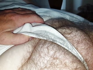 wifes tired resting hairy pussy sticking out of her pantys