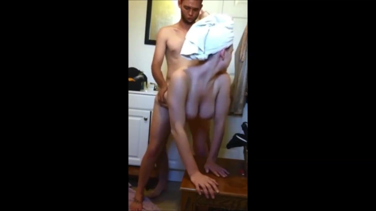 Scorching brunette fucked by neighbor at his rest room HIDDEN CAM