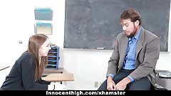 InnocentHigh - Schoolgirl Sucks Cock For Smoking Weed