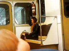 Flashing dick in the train