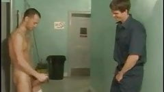 three boys in public toilet