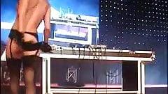 sexy blonde djane public nude dj-set