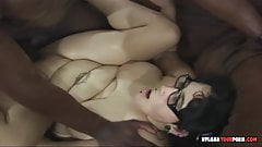 Geeky fat chick gets banged by a bbc