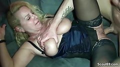German Amateur MILF Fuck with Big Dick Stranger