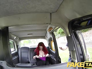 Preview 2 of Fake Taxi Sexy redhead with huge tits