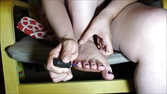 Fan Request BBW Lexi Painting Her Toes in One Piece Swimsuit