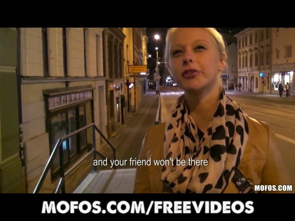 Cute Blonde Czech Student is Paid for Sex in Public.