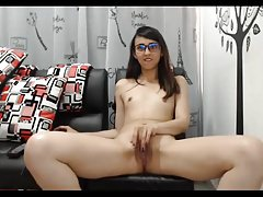 -  glasses small tits shaved pussy 18yo