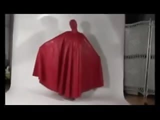 Preview 5 of Latex burqa red