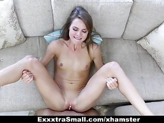ExxxtraSmall - Tiny Brunette Brutally Fucked By Huge Cock
