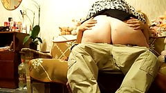 BBW Granny riding on young dick - 2