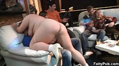 Plumper takes off her clothes at bbw party