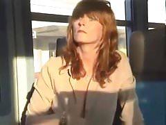 shy flashing mature woman caught out train