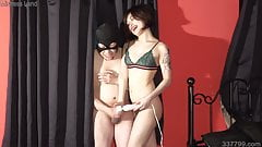 Japanese Mistress Sherry Orders Slaves to Masturbate